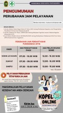 Perubahan jadwal pelayanan Puskesmas Jetis